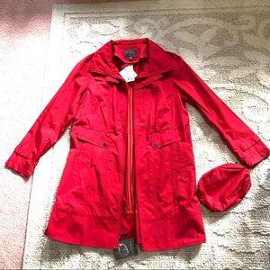 Cole Haan packable rain coat with hood